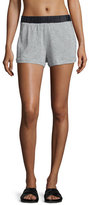 Koral Activewear Tap Speckled-Print Shorts, Heather Gray/Black