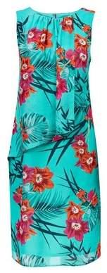 Dorothy Perkins Womens **Billie & Blossom Tall Teal Tropical Shift Dress