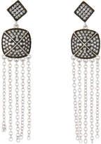 Freida Rothman Pave Drop Fringe Earrings, Silver