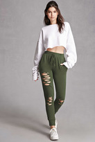 Forever 21 FOREVER 21+ Distressed Terry Joggers