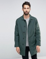 Farah Trench Coat In Green