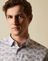Ted Baker SINO Cotton bird print shirt