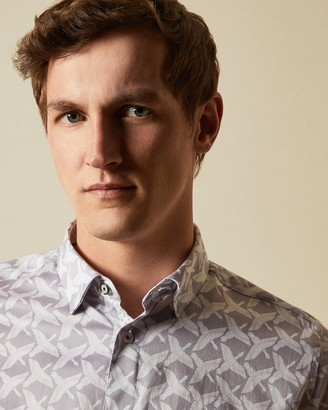 Ted Baker SINO Cotton bird print shirt