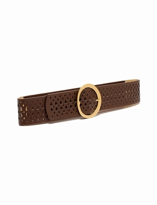 The Limited Perforated Round Buckle Belt