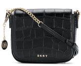 DKNY croc-effect shoulder bag