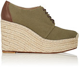 Barneys New York Women's Canvas Platform-Wedge Espadrille Oxfords