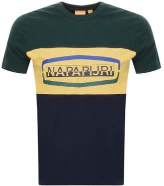 Napapijri Sogy Colour Block T Shirt Green