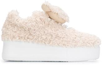 Joshua Sanders Ted shearling sneakers