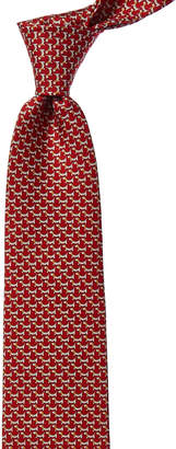 Salvatore Ferragamo Red Puppy Silk Tie