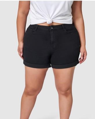 Indigo Tonic - Women's Black Denim - Riley Boyfriend Shorts - Size One Size, 12 at The Iconic