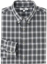 Uniqlo Men's Extra Fine Cotton Broadcloth Checked Dress Shirt