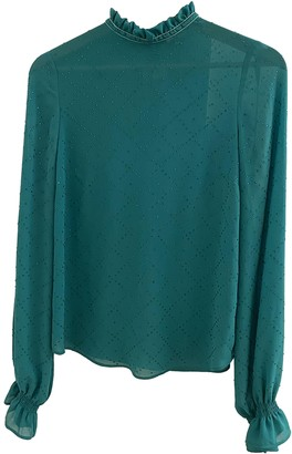Manoush Green Glitter Top for Women