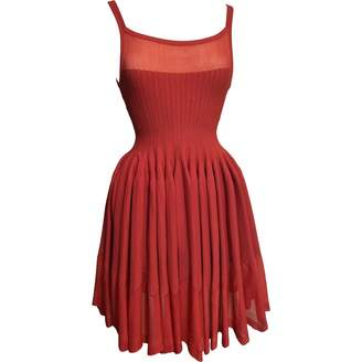 Alaia Red Viscose Dresses