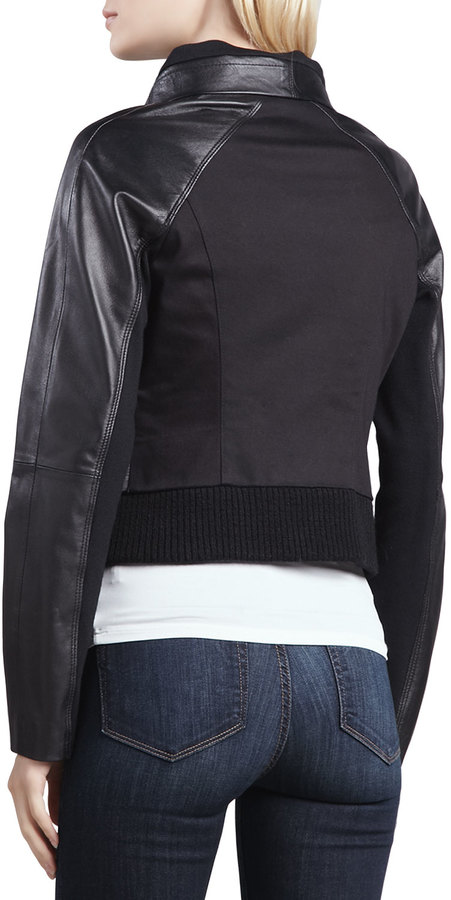 Yigal Azrouel Cut25 by Shearling-Front Motorcycle Jacket