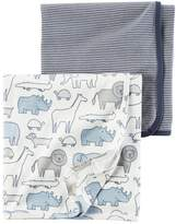 Carter's Baby Boy Animal & Stripes 2-pk. Swaddles