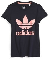 adidas Girl's Trefoil Graphic Tee