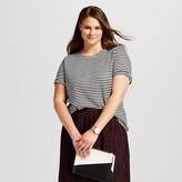 Women's Plus Size Striped Elbow Sleeve Linen Tee - Who What Wear