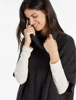 Lucky Brand Cashmere Blend Cowl Neck Poncho