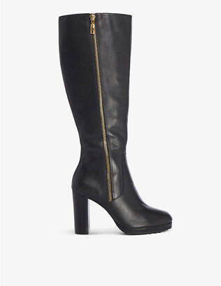 Dune Sky heeled knee-high leather boots