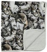 Molo Neala Reversible Cat Blanket, Gray