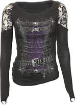 Spiral - WAISTED CORSET - Shoulder Lace Top - M