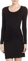 Laundry by Shelli Segal Ruched Front Jersey Dress, Black