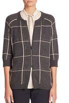 Brunello Cucinelli Roundneck Wool Cardigan
