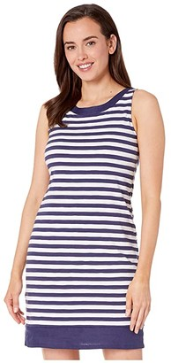 Tommy Bahama Viale Stripe Short Dress (Island Navy) Women's Clothing