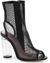 boohoo Lara Peeptoe Open Back Clear Shoe Boot