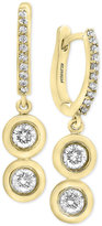 Effy D'Oro by Diamond Drop Earrings (3/4 ct. t.w.) in 14k Gold