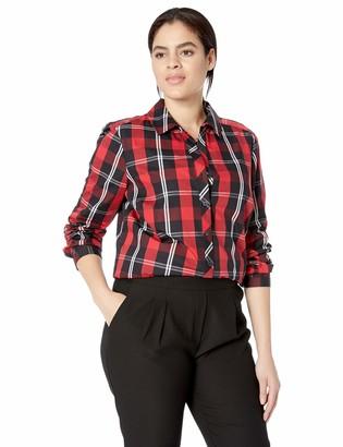 Foxcroft Plus Size Womens Faith Mackenzie Tartan Plaid Tunic