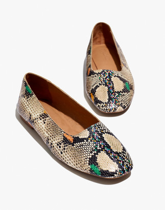 Madewell The Cory Flat in Snake Embossed Leather