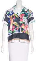 Clover Canyon Abstract Print Button-Up Top