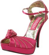 Bordello By Pleaser Women's Preen-16 Peep Toe Platform,Fushia Satin,7 M US