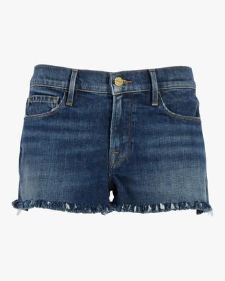 Frame Le Cutoff Shredded Raw Shorts