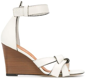 Loewe Gate 80mm wedge sandals