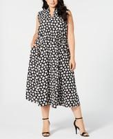 Anne Klein Plus Size Sleeveless Printed Midi Dress