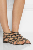 Miu Miu Studded leather gladiator sandals