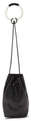 Jil Sander Beaded-bracelet Drawstring Leather Bag - Black