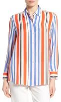 Foxcroft Women's Stripe Crepe Blouse