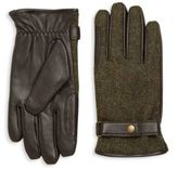 Barbour Acomb Wool Trimmed Leather Gloves