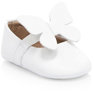 Elephantito Baby Girl's Butterfly Leather Ballet Flats