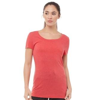 Reebok Womens Crew Neck T-Shirt Excellent Red