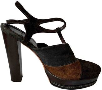 Vanessa Bruno Brown Leather Heels