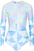 Mara Hoffman Printed Rash Guard - Sky blue