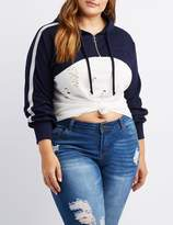 Charlotte Russe Plus Size O-Ring Cropped Zip-Up Hoodie