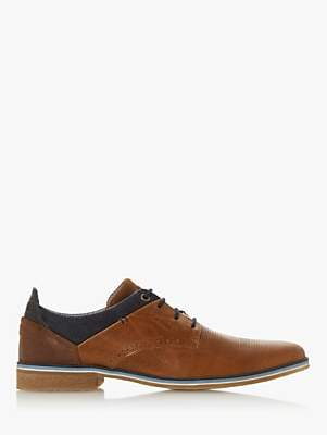 Dune Barinas Leather Oxford Shoes, Tan