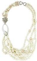 Alexis Bittar Pearl, Lucite & Crystal Multistrand Necklace