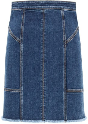 Alexander McQueen kickback denim mini skirt