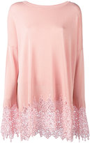 Ermanno Scervino embroidered hem jumper - women - Polyester/Viscose - 40
